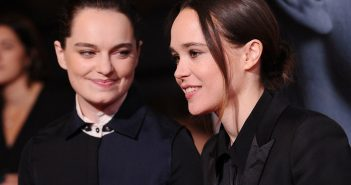 """LOS ANGELES, CA - SEPTEMBER 27:  Emma Portner and Ellen Page attend the premiere of """"Flatliners"""" at The Theatre at Ace Hotel on September 27, 2017 in Los Angeles, California.  (Photo by Jason LaVeris/FilmMagic)"""